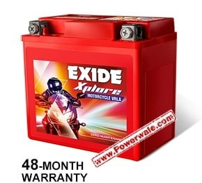 Exide Xplore Xltz4 3Ah Battery