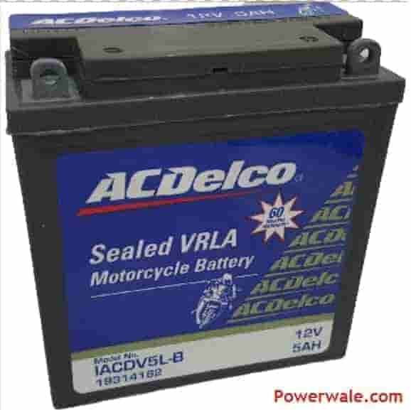 Acdelco Sealed Vrla Iacdv5l -B 5Ah Bike Battery