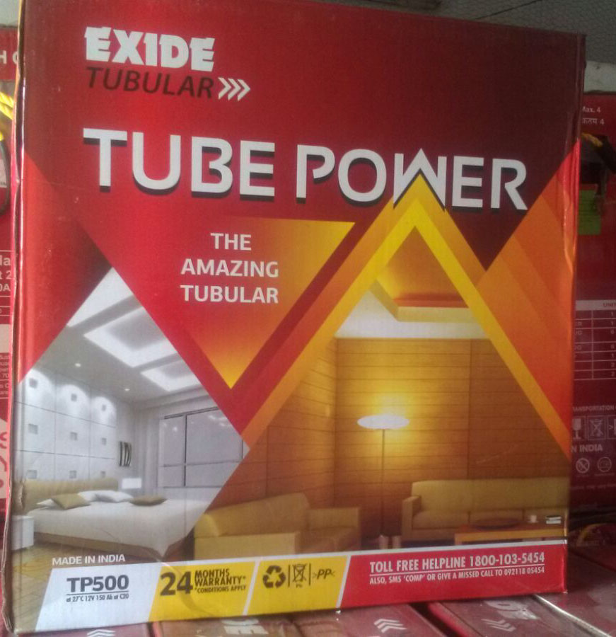 Exide Tube Power Tp500 150Ah Tubular Battery