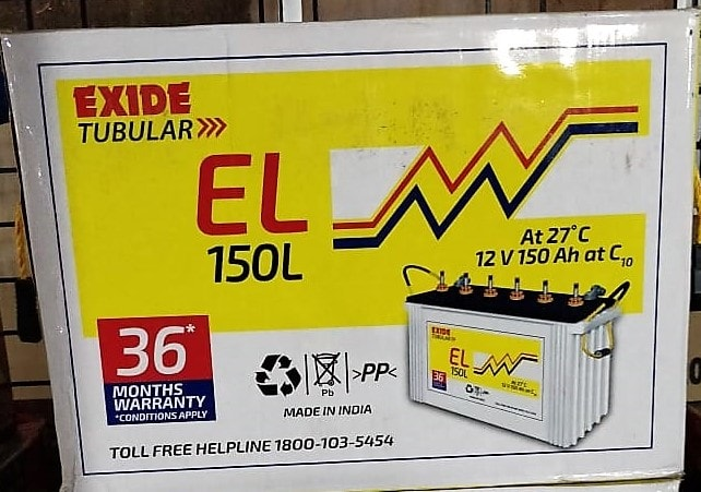 Exide El Master Tubular 150Ah Battery