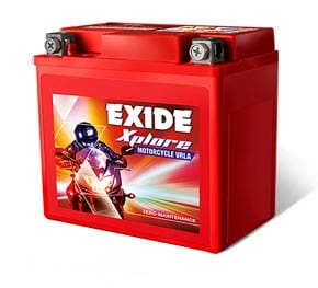 Exide Xplore 12Xl2.5Lc 2.5Ah Motorcycle Vrla Battery