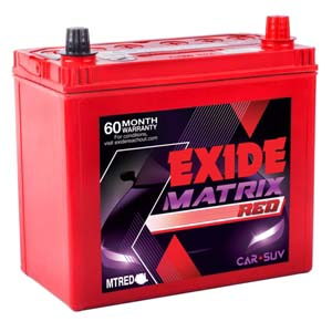 Exide Matrix Red Mtred45d21lbh 45Ah Battery
