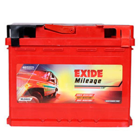 Exide Mileage Red Mreddin55 55Ah Battery