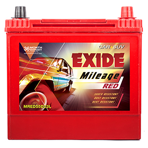 Exide Mileage Red  54Ah Battery Mred55d23l