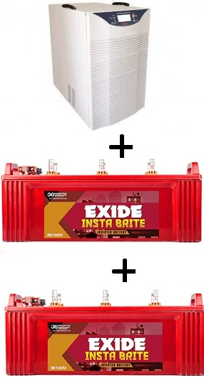 Exide 2Kva With 2 Nos 150Ah Batteries