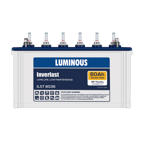 Luminous Inverlast Ilst8036 60Ah Tubular Battery