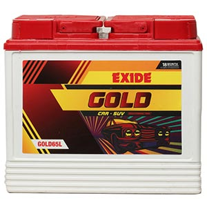 Exide Gold65l 65Ah Battery