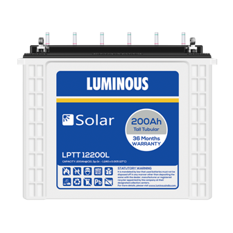 Luminous Tall Tubular Solar 200Ah Battery Lptt12200l