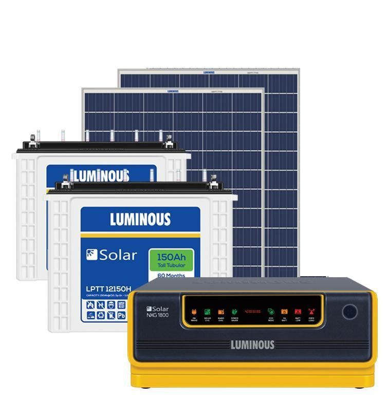 Luminous Spgs Nxg31 Nxg1800 Ups + (120X2) 240Ah Battery + 270 Watts Panel Solar Combo