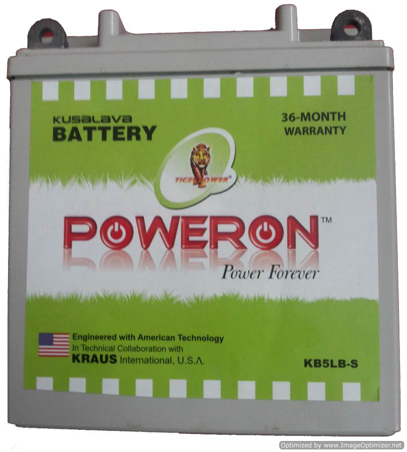 POWERON KB7L-B 7Ah Sealed Bajaj Pulsar Battery
