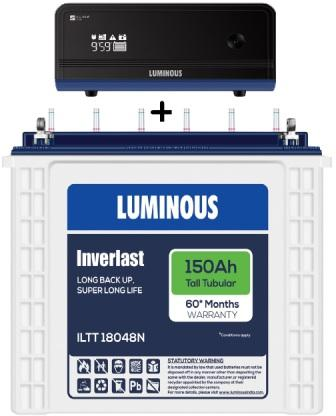 Luminous Zelio 1100va + Luminous 150 AH Tall Tubular Battery  Combo Offer