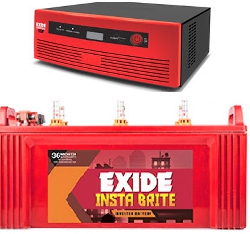 Exide 850va Home UPS Inverter 150AH Insta brite Battery Combo