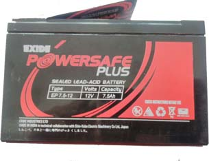 Exide Powerwsafe Plus 12V 7.5Ah Sealed Lead Acid battery