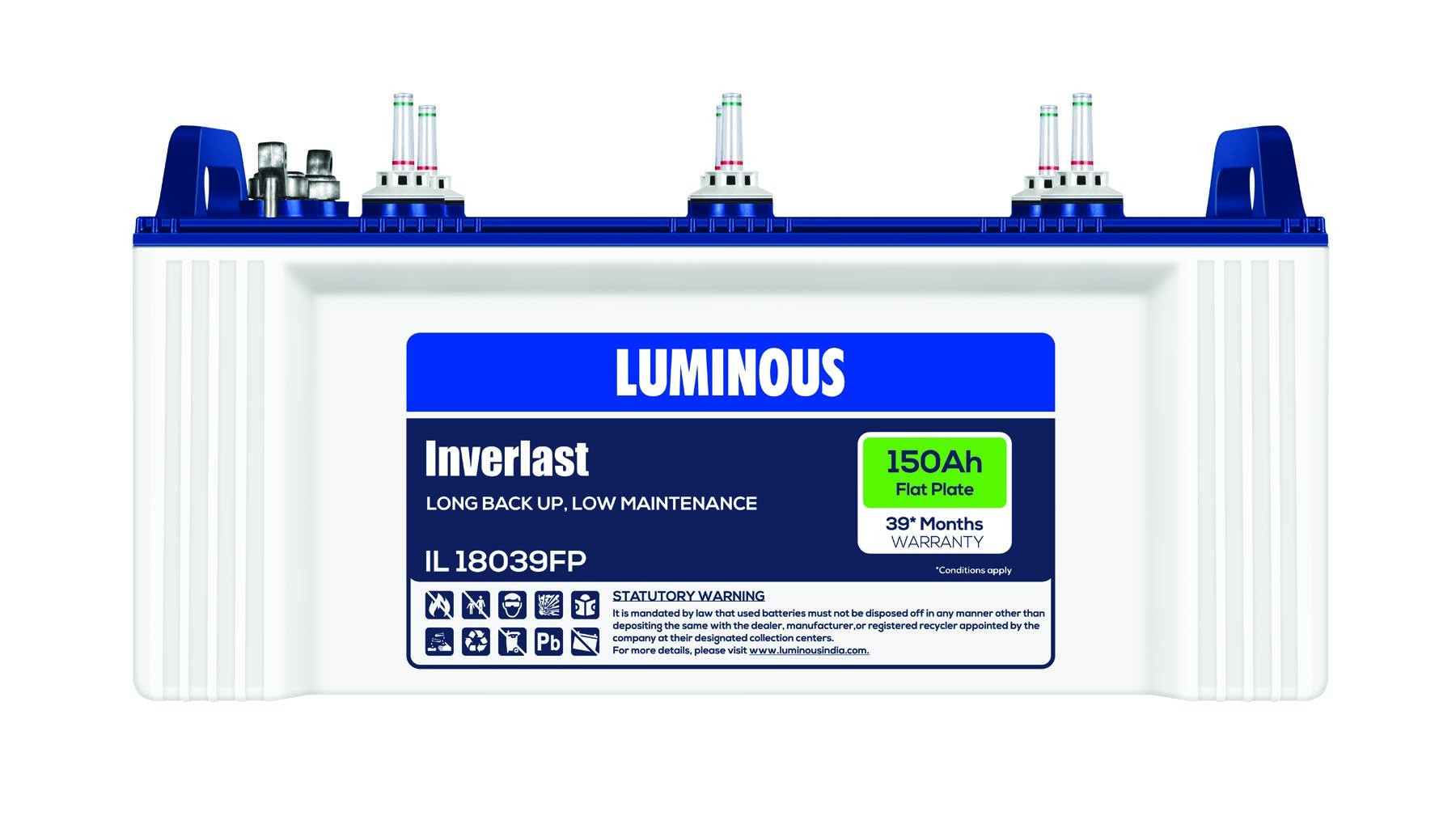 Luminous INVERLAST 18039 Neo 150AH Flatplate Battery