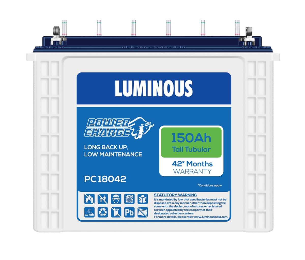 Luminous Power charge PC 18042 150AH Battery