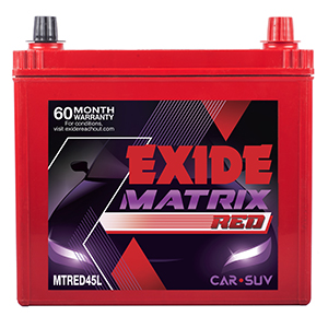 EXIDE MATRIX RED MTRED45L 45Ah Battery