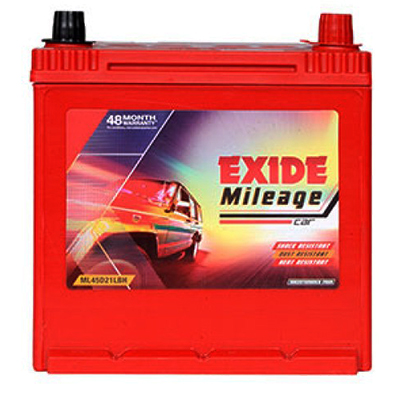 EXIDE MILEAGE RED MRED45D21LBH 45Ah Battery