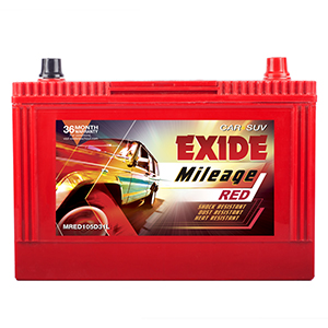 EXIDE MILEAGE RED MRED105D31L 85Ah Battery