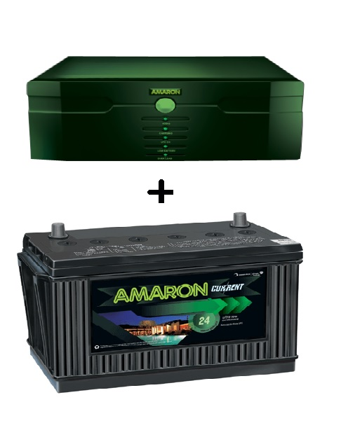 Amaron 675 VA Inverter with 100AH Battery