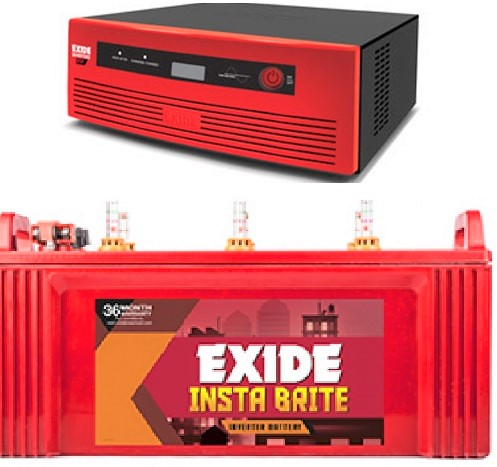 Exide 650VA Home UPS with 100AH Battery