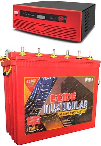 Exide 850VA Home UPS with IT 500 150AH Tall Tubular Battery