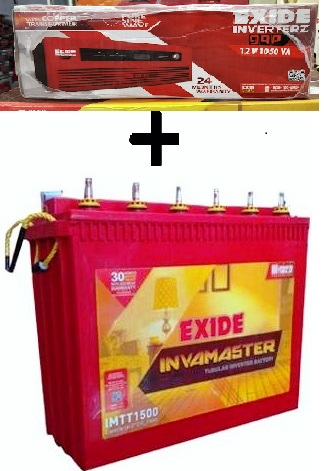 Exide 1050VA Home UPS with 150AH Tall Tubular Battery