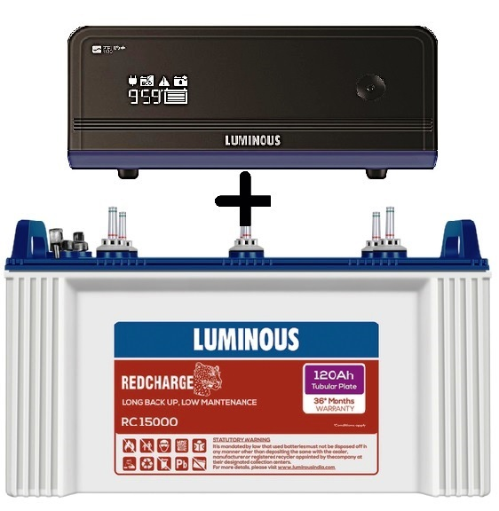 Luminous Zelio 1100+ UPS with RC15000 120Ah Tubular Battery