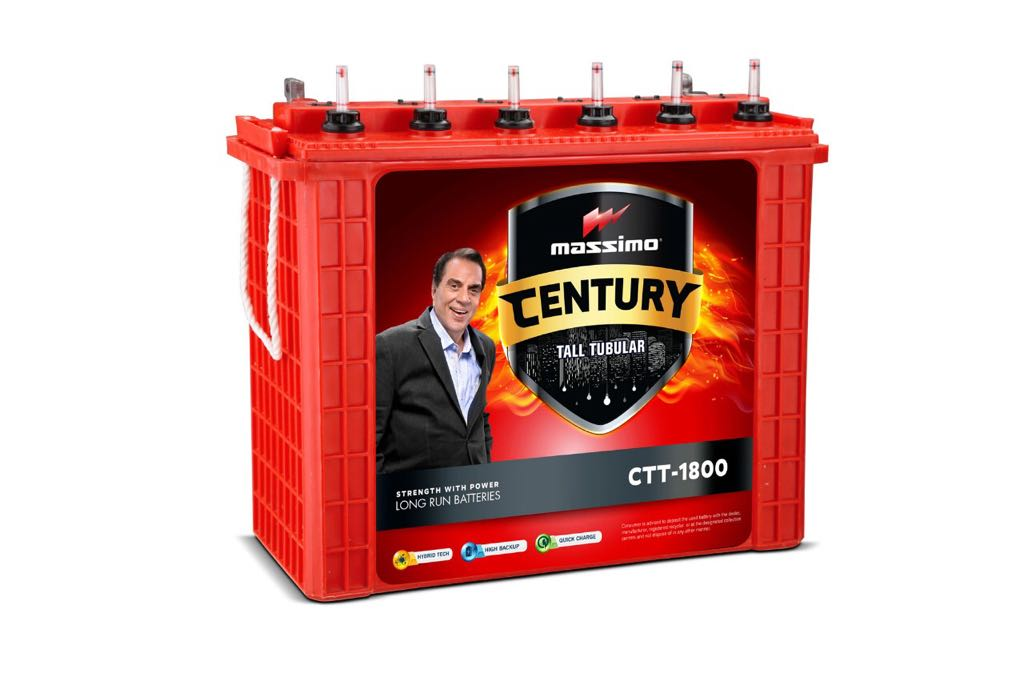 Massimo Century Tall Tubular 150AH Inverter Battery