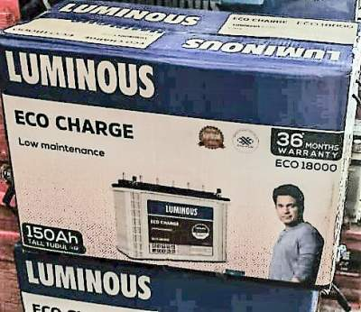 Luminous Eco Charge ECO18000 150AH Tall Tubular Battery