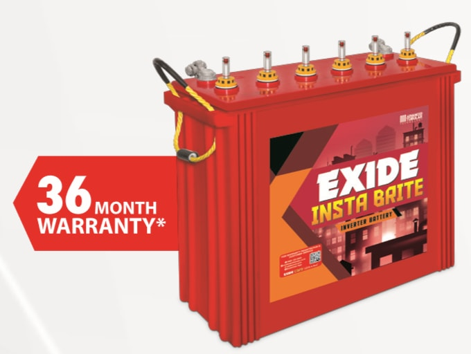 Exide Insta Brite IBTT1500 150AH Tall Tubular Battery