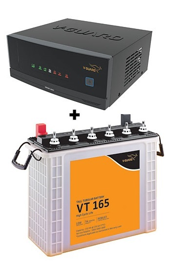 V-Guard Prime 1050 UPS + VT165 150Ah Battery Combo