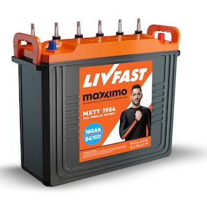 Livfast Maxximo MXTT 1839 150AH Tall Tubular Inverter Battery