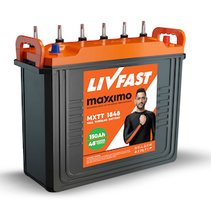 Livfast Maxximo MXSTT 1860 150AH Tall Tubular Battery