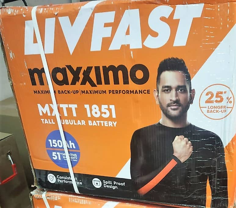 Livfast Maxximo MXTT 1851 Tall Tubular Battery 150AH