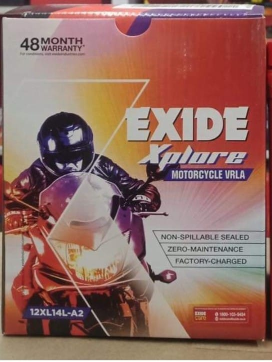 Exide Xplore 12XL14L-A2 Zero Maintenance Battery