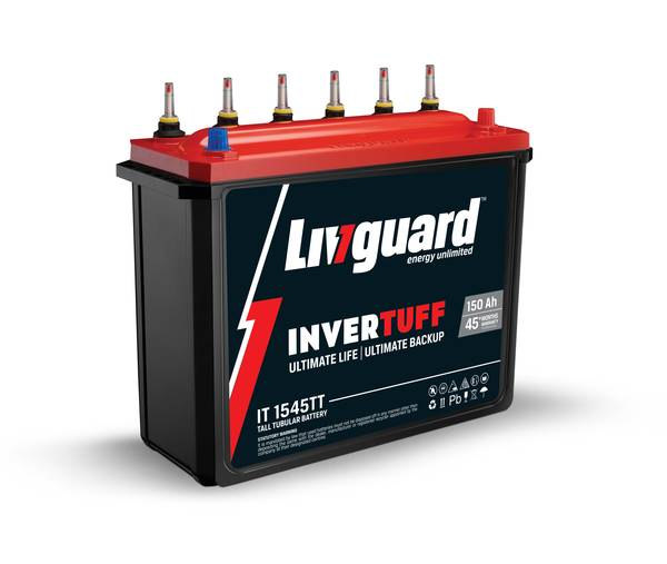 Livguard 150AH Tall Tubular Battery Invertuff 1545TT