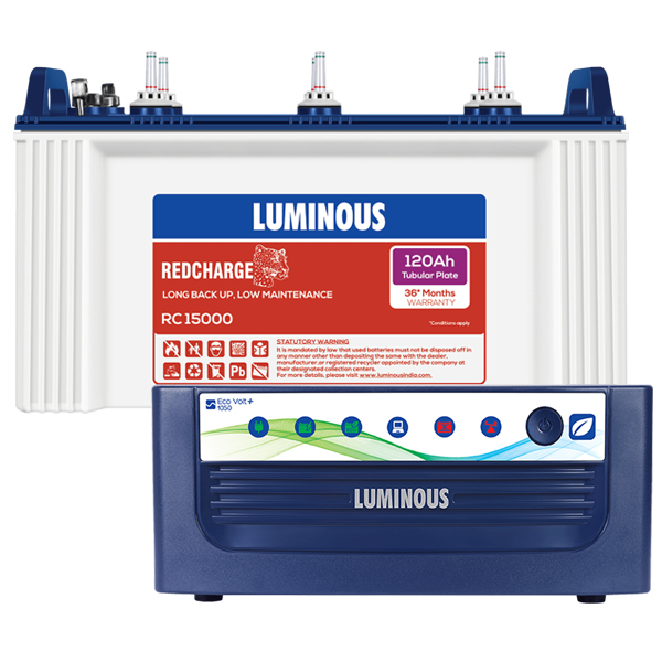 LUMINOUS ECO VOLT 1050 + RC15000 120AH
